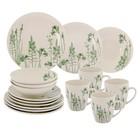 """Набор посуды """"Соната. Гербарий травы"""", 16 предметов, цвет зелёный"""