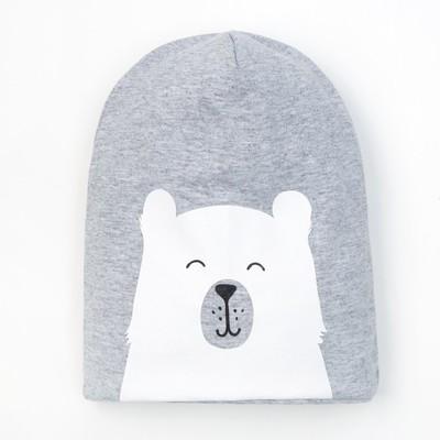 "Чепчик (шапочка) Крошка Я ""Baby bear"" сер, р-р 50 (3-4 года)"