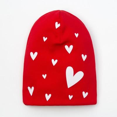 "Чепчик (шапочка) Крошка Я ""LOVE"" красн, р-р 46 (9-12 мес)"