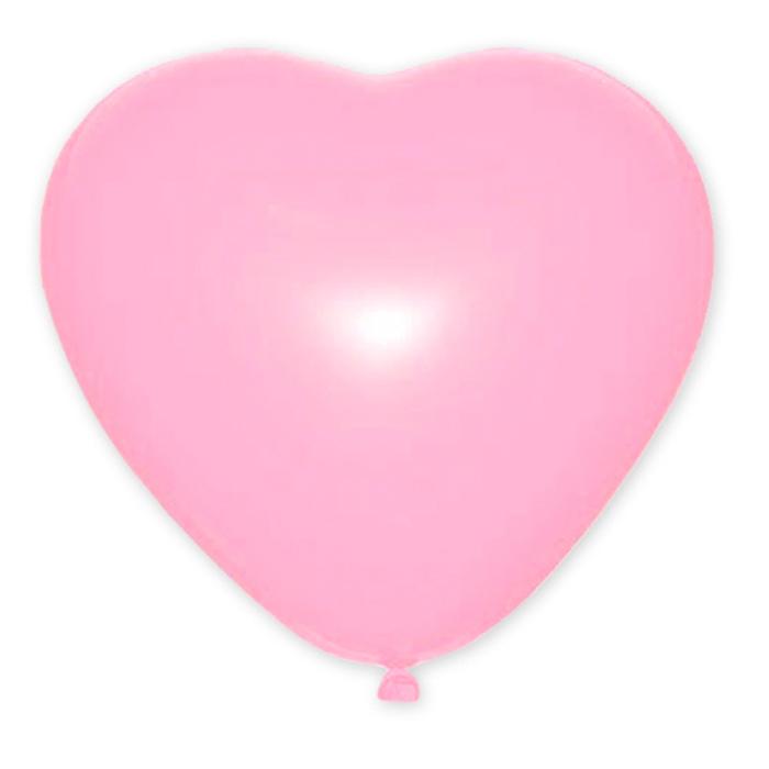 """Шар латексный 10"""", сердце, декоратор, набор 50 шт, цвет розовый,"""