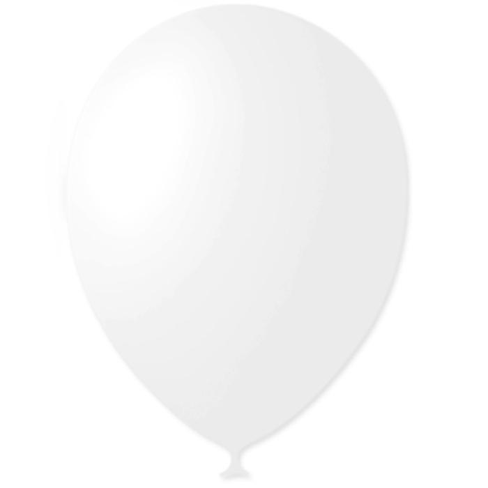 """Шар латексный 12"""", декоратор, набор 100 шт., цвет белый - фото 190379210"""