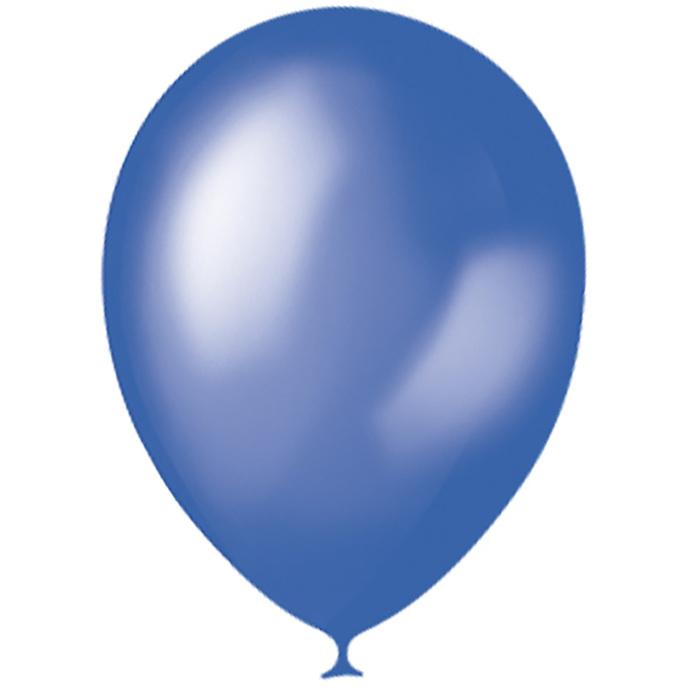 """Шар латексный 12"""", металлик, набор 100 шт., цвет голубой - фото 954188"""