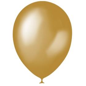 """Шар латексный 12"""", металлик, набор 100 шт., цвет золотой"""
