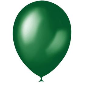 """Шар латексный 12"""", металлик, набор 100 шт., цвет зелёный"""