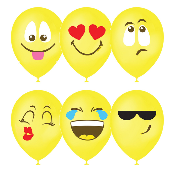 """Шар латексный 12"""" «Эмоции. Смайл», пастель, 1-сторонний, набор 25 шт., цвет жёлтый - фото 308467790"""