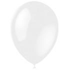 """Шар латексный 12"""", перламутр, набор 100 шт., цвет белый - фото 308469068"""