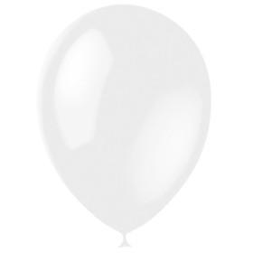 """Шар латексный 12"""", перламутр, набор 100 шт., цвет белый"""