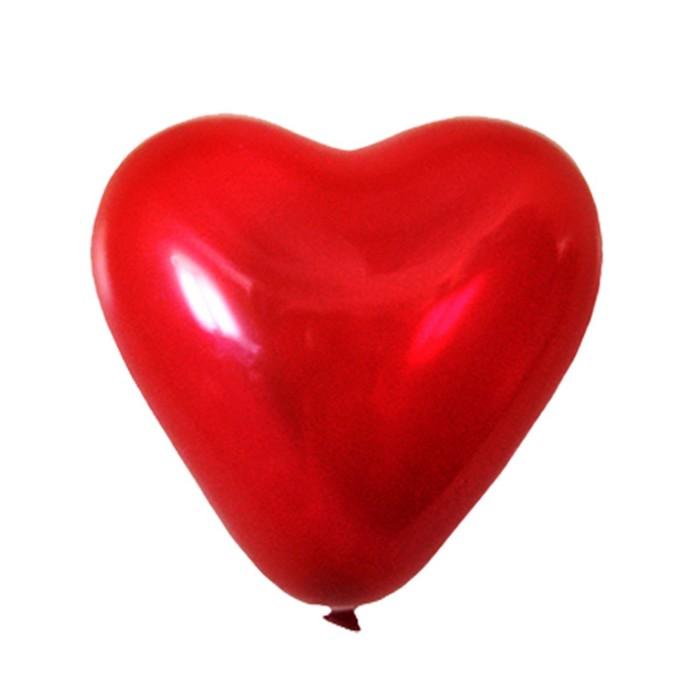 """Шар латексный 5"""", сердце, декоратор, цвет ярко-красный. набор 100 шт. - фото 308469087"""