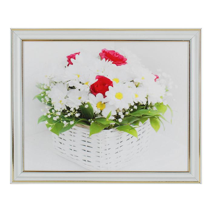 "Картина ""Белые цветы"" 22х27 см"