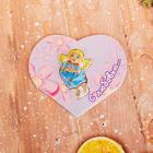 Открытка сердце с шоколадной фигуркой Ангел 10 г