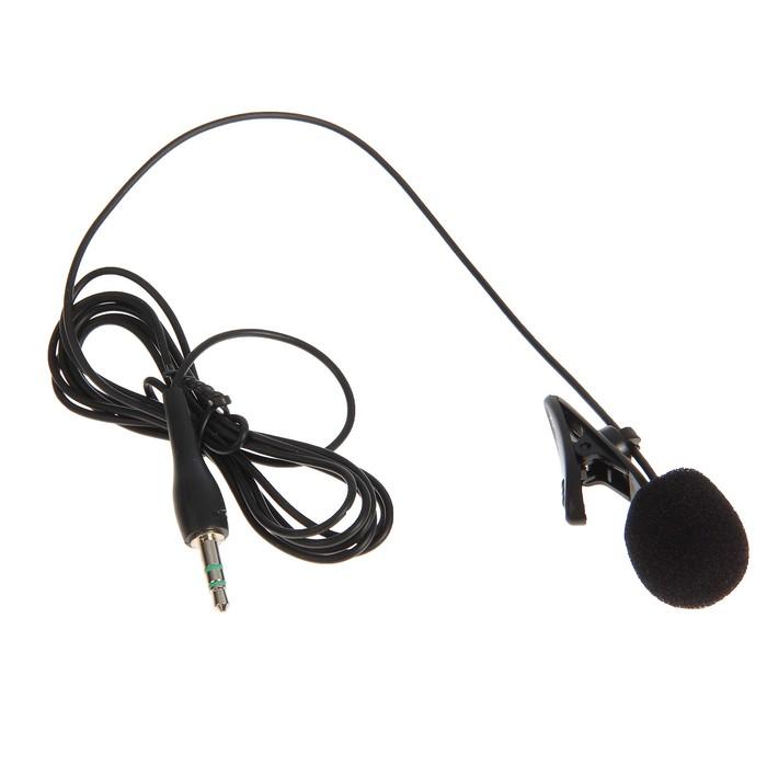 Микрофон RITMIX RCM-101, в комплекте держатель-клипса, разъем 3.5мм, кабель 1.2м