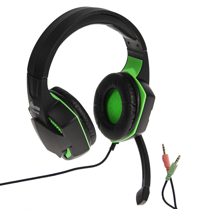 Наушники полноразмерные RITMIX RH-560M Gaming, игровые, микрофон  105 дБ+/-3 дБ