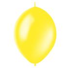 """Шар латексный 12"""", линколун, декоратор, набор 50 шт., цвет жёлтый"""