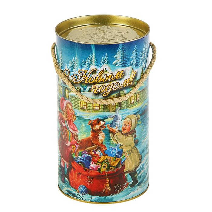 "Подарочная коробка, тубус ""Санта малая"", 12 х 22 см"