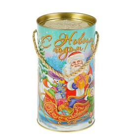 Подарочная коробка, тубус 'Золотые эльфы', 12 х 22 см Ош