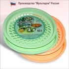Фруктовница с поддоном - сушилка для стаканов цвет МИКС