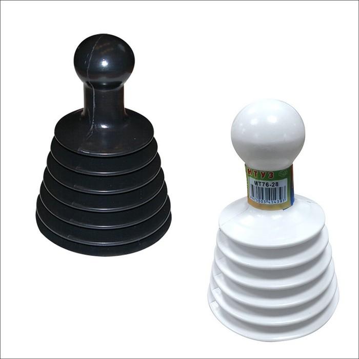 Вантуз-гармошка, 16 х 11,5 см, цвет МИКС