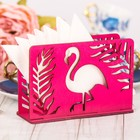 """Салфетница деревянная """"Фламинго"""" розовый цвет"""