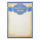 """Благодарственное письмо """"Универсальное"""" синяя рамка"""