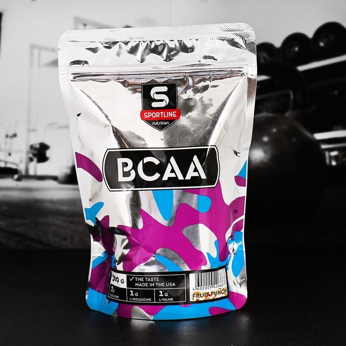 Аминокислоты SportLine BCAA 2:1:1, фруктовый пунш, 300 г
