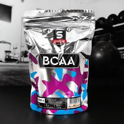 Аминокислоты SportLine BCAA 2:1:1, яблоко-корица, 300 г