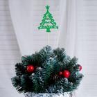 """Топпер """"С Новым Годом, Ёлочка"""", 10х7.5см, зелёный"""
