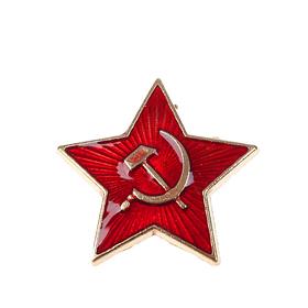 Значок звезда 2,5см с застежкой как на обычном значке Ош