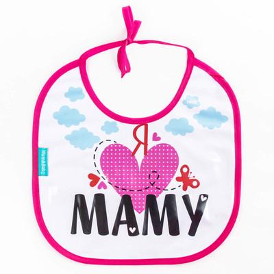 Нагрудник непромокаемый «Я люблю маму», на завязках