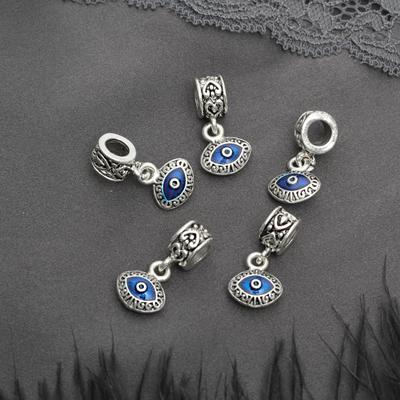 """Подвеска """"Глаз"""", цвет синий в серебре"""
