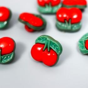 """A set of buttons decorative laminate """"Cherry"""" set 30 PCs 1,3x1,2 cm"""