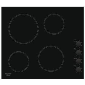 Варочная поверхность Hotpoint-Ariston HR 629 C, электрическая, 4 конфорки, чёрная