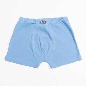 Трусы-боксеры для мальчика, рост 134 см, цвет голубой