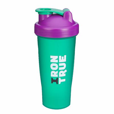 Шейкер IRONTRUE Шарик-пружинка в комплекте (Фиолетовый-Зеленый) 600 мл