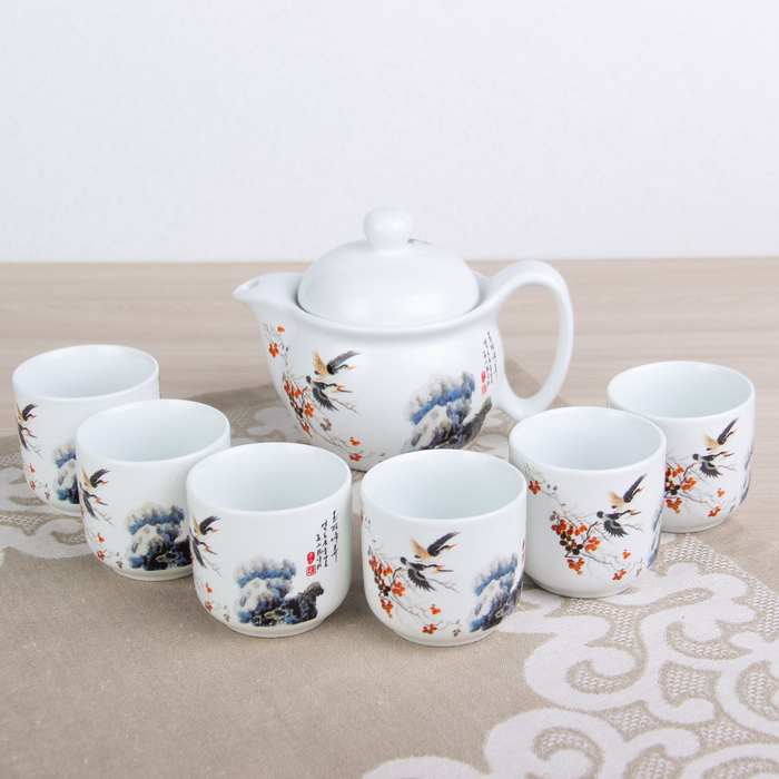 """Набор для чайной церемонии """"Восход"""", 7 предметов: чайник 400 мл, 6 чашек 70 мл"""
