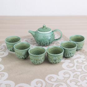 Набор для чайной церемонии «Древний мир», 7 предметов: чайник 200 мл, чашки 100 мл
