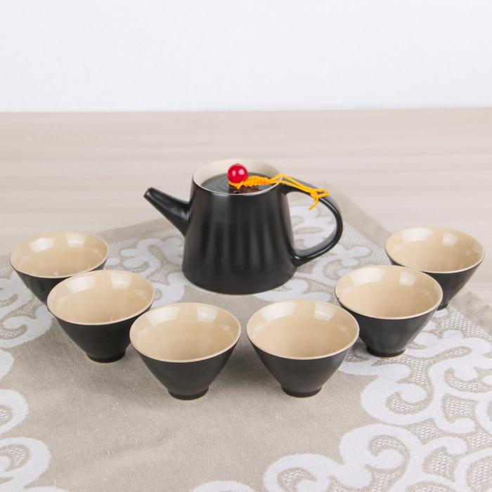 """Набор для чайной церемонии """"Таинственность"""", 7 предметов: чайник 250 мл, 6 чашек 70 мл d=7 см"""