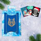 """Обложка для автодокументов + набор наклеек (3 шт.) """"С Новым годом!"""""""