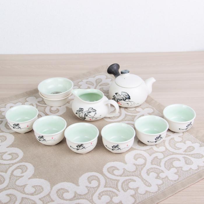 "Набор для чайной церемонии ""Путь Даоса"", 9 предметов: чайник 180 мл, чашки 70 мл, чахай"