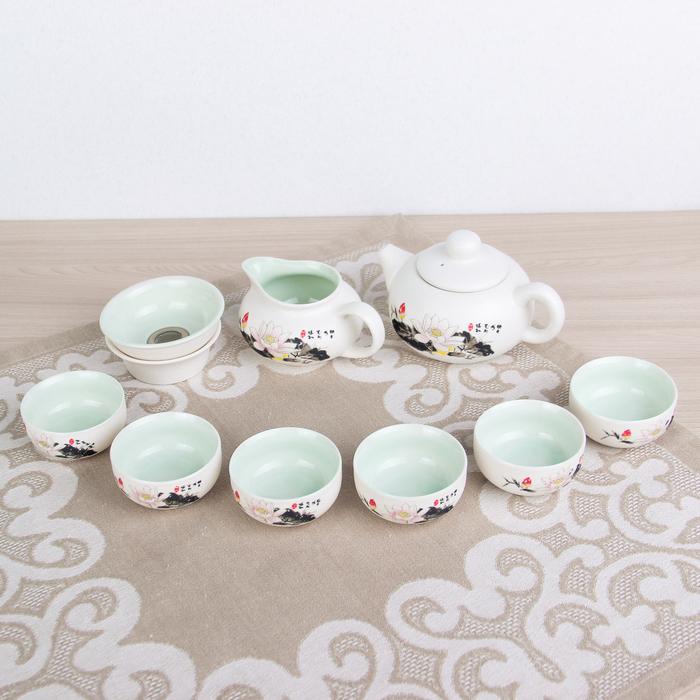 "Набор для чайной церемонии 9 предметов ""Лотос"" чайник 180 мл, чашка 70 мл, чахай"