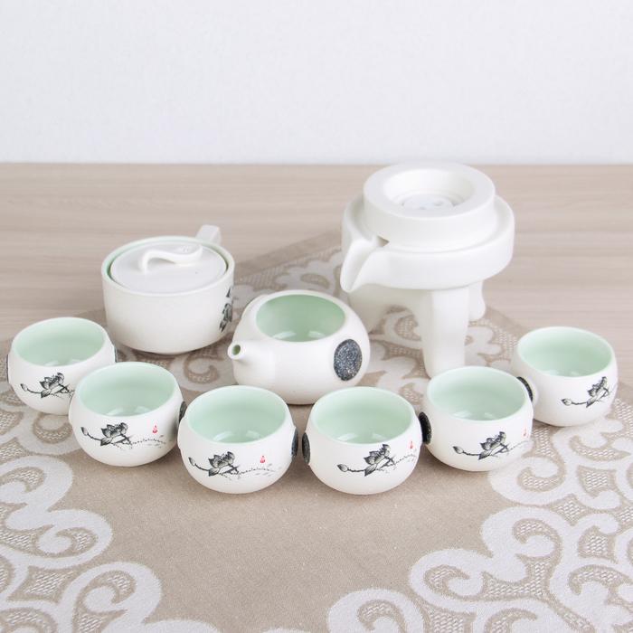 """Набор для чайной церемонии 9 предметов """"Путь Даоса"""" чайник 180 мл, 6 чашек 70 мл, чахай"""