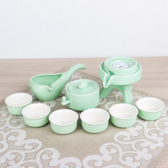 "Набор для чайной церемонии 9 предметов ""Лунный камень"" чайник 180 мл, 6 чашек 70 мл, чахай"