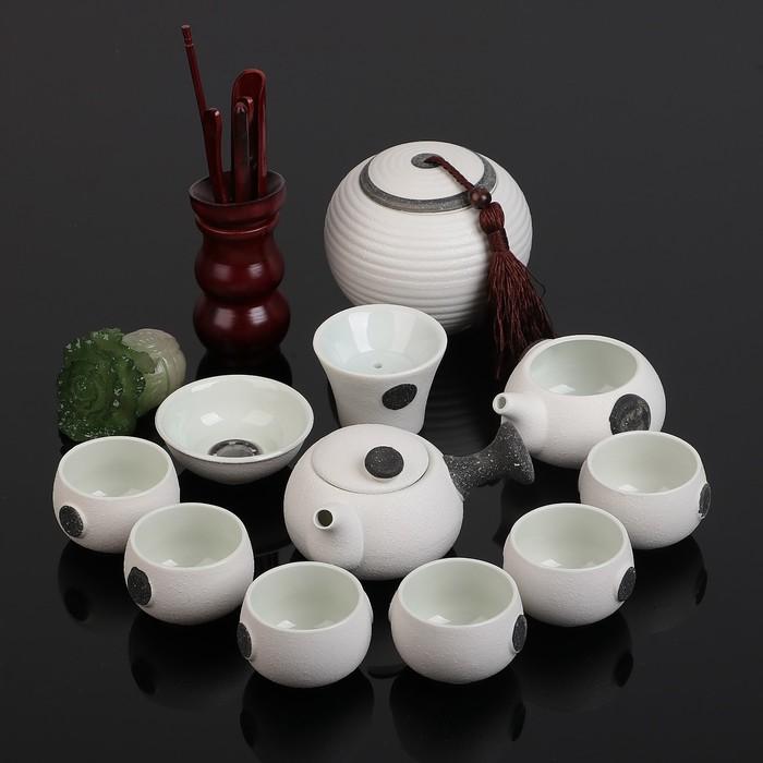 """Набор для чайной церемонии """"Путь Даоса"""", 14 предметов: чайник 180 мл, пиала 70 мл, чахай, банка"""