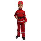 """Карнавальный костюм """"Пожарный"""", куртка, брюки, ремень, каска, р-р 34, рост 128 см"""