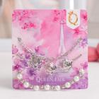 """Браслет жемчуг """"Романтик"""" розы, набор 3 штуки, цвет белый в серебре"""