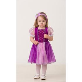 Карнавальный костюм «Принцесса Рапунцель», текстиль, (платье, повязка), размер 24, рост 86 см