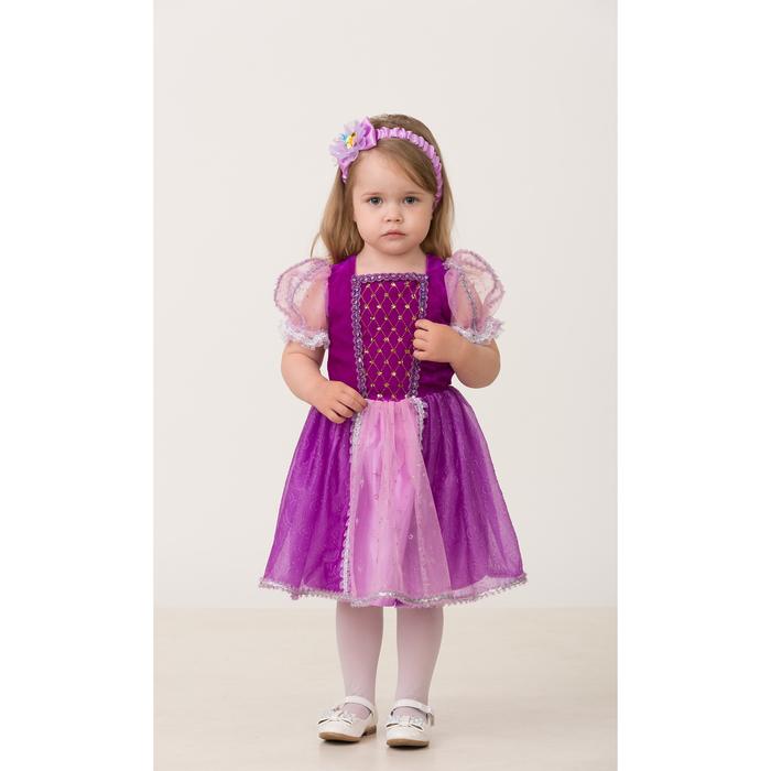 Карнавальный костюм «Принцесса Рапунцель», текстиль, (платье, повязка), размер 28, рост 98 см - фото 906173
