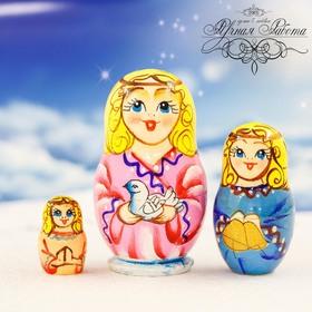 """Матрешка 3 кукольная """"Ангел розовый"""""""