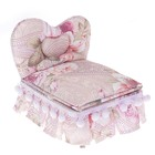 """Jewelry box fabric jewelry, """"Bed with POM-POM"""" 13,5х15х12 cm"""