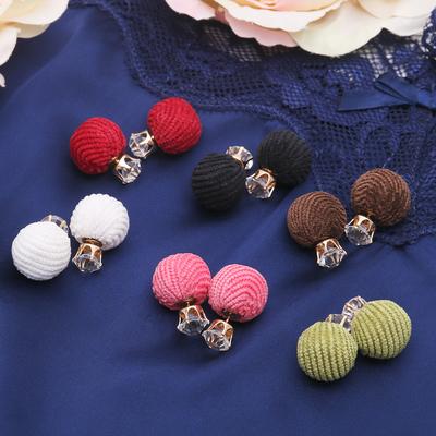 Earrings Dr game threads, velvet, color MIX