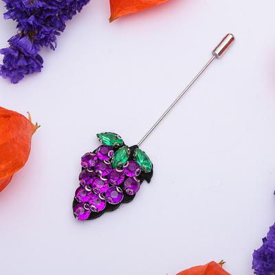 """Булавка """"Виноград"""", 10 см, цвет фиолетово-зеленый"""